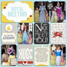 MEETING PRINCESSES!! Disney project life by JulieMedia using Project Mouse: Characters by Sahlin Studio & Britt-ish Designs