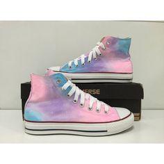 Pink Galaxy Converse shoes Custom Converse Galaxy Converse Sneakers... ($59) ❤…