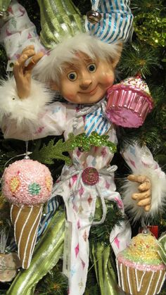 """""""Kandy"""" Elf with Ornaments"""