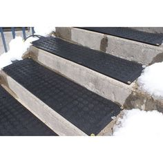 Awesome HOTflake Commercial/Residential Electric Heated Single Stair Tread Sold In  Single Tread Cm X Cm In. HOTflake Outdoor Heated Stair Mat ...