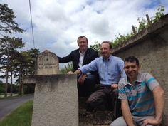 Jean Michel Tronhay, Charles Philipponnat et Franck Languille à Mareuil sur Ay.
