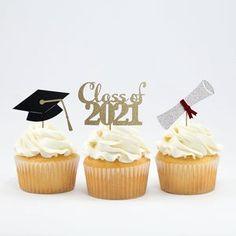 Graduation Desserts, Graduation Cupcake Toppers, Graduation Decorations, Graduation Party Decor, Grad Parties, Graduation Gifts, Graduation Ideas, Nursing Graduation, Cupcake Pictures