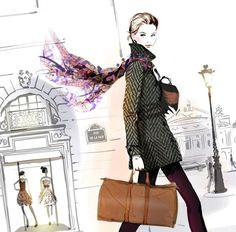 Deco hôtel - sophie griotto illustration illustration my fav French Fashion, Covet Fashion, Fashion Art, Fashion Design, Paris Fashion, Fashion Fashion, Sketch Manga, Fantasy Magic, Anime Girl Dress