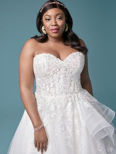 With us every bride will be beautiful on her big day! Wedding Dresses Uk, Maggie Sottero Wedding Dresses, Bridal Dresses, Blush Gown, Princess Bridal, Lace Dress, Lace Bodice, Plus Size Wedding, Bridal Boutique