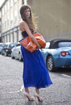 Skirt shoes purse