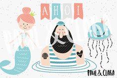 """Plottermotive+""""Meeresrauschen"""" Ein+tolles+Set+für+alle+Fans+von+Meer,+Sonne+und+Strand.  Schön+maritim+mit+Meerjungfrauen,+einen+bärtigen+Seemann+alias+""""Seebär"""",+einen+Fisch+und+einem+Boot.  Dazu+passend+sind+über+15+coole+Sprüche+enthalten+aus+denen+man+aber+unendlich+viele+neue+Kombinationen+basteln+kann.  Alle+Beispiele+findet+ihr+auf+meinem+Blog+(paulundclara.com)+und+auf+meiner+Facebookseite+(www.facebook.com/paulundclara)  Nur+für+den+privaten+Gebrauch.+Gewerbelizenz+kann+geso..."""