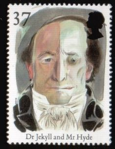 Dr. Jekyll and Mr. Hyde British stamp