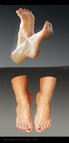 Feet study 3, John Derek Murphy on ArtStation at http://www.artstation.com/artwork/feet-study-3