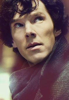 classic Sherlock, lips and cheekbones.