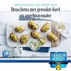 Recept voor Bruschetta met gerookte forel en appelmayonaise #Lidl #Recept #Bruschetta #Kerst
