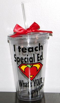 Personalized Special Ed Teacher Gift tumbler by dreamingdandelions, $10.00