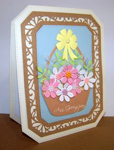 Ann Greenspan's Crafts: A Basket of Flowers for Mom