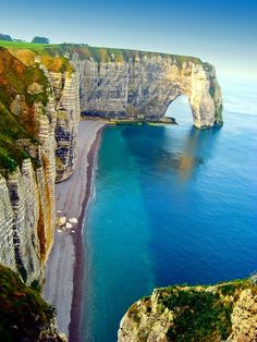 Beach Cliff, Normandy, France
