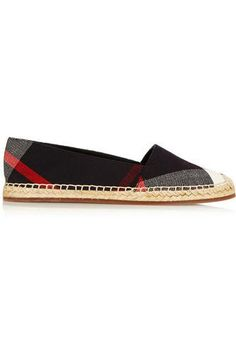 Checked canvas espadrilles #espadrilles #offduty #covetme #burberryshoes&accessories