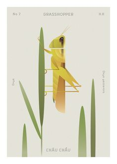 Geometric Insects Navigate Sparse Flora in Pastel Illustrations by Hoàng Hoàng Illustrations Pastel, Ho Chi Minh, Colossal Art, Forest Creatures, Pastel Background, Insect Art, Flat Illustration, Nature Illustration, Graphic Design Posters