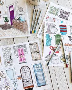 Interior Design Home Coloring Book - The Inspired Room