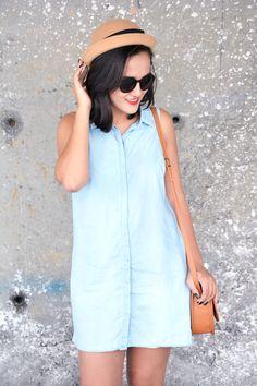 Xá de Amora - Blog de Moda: LOOK VESTIDO JEANS E SAPATILHA PETITE JOLIE