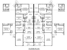 3 Bedroom Duplex Floor Plans | DUPLEX Plan 1392 A | Dream House | Pinterest  | Duplex Floor Plans, Duplex Plans And Bedrooms