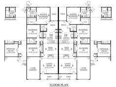 3 Bedroom Duplex Floor Plans Plan 1392 A Dream House Pinterest And