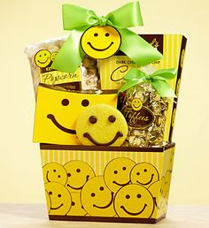 12 for $12 Happy Face Gourmet Cookie Sampler- buttercream frosted cookies, chocolate chip cookies and more, 2 famous buttercream frosted Happy Face cookies decorated with sweet chocolate smiles. $12.00