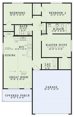 153-1995: Floor Plan Main Level