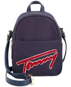 Tommy Hilfiger Aurora Embellished Canvas Mini Backpack Crossbody