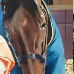 """Susan Howe: """"American Pharoah commission. The Triple Crown Winner and still the best! Love working on him this…"""""""