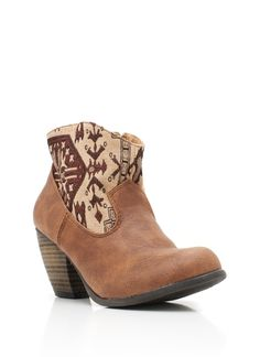 printed cowgirl booties $29.10