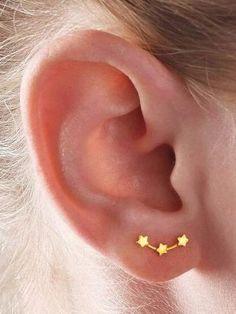 Shein Star Detail Ear Climber 1pair