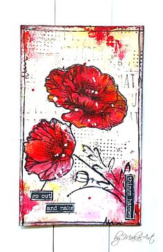 My ICAD (index card) - day 05 Welcome to my blog!      I continued creating mixed media index cards for the  ICAD Challenge 2017 and here are my latest pieces......