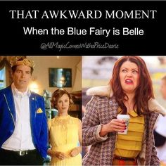 In descendents the blue fairy played Belle.