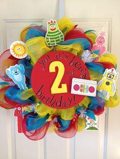 Yo Gabba Gabba Birthday Wreath.