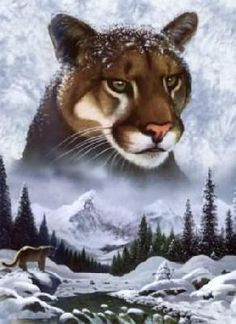 Схема вышивки крестом :: Горный лев