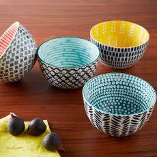 Mid-Century Printed Bowls
