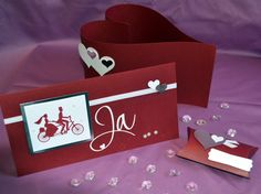 Glückwünsche - SET Hochzeit Einladung Hochzeitseinladung u.mehr - ein Designerstück von Annett71 bei DaWanda