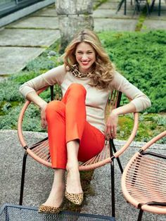 Orange Pants and Leopard Shoes - Fall Fashion Trends 2012 - Redbook