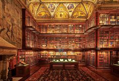 Pierpont Morgan Library, NYC.  A collection of buildings, The Morgan Library & Museum began as the private library of financier J. Pierpont Morgan (1837–1913). As early as 1890 Morgan had an assemblage of illuminated, literary, and historical manuscripts, early printed books, and old master drawings and prints.  Photo by: Graham Haber