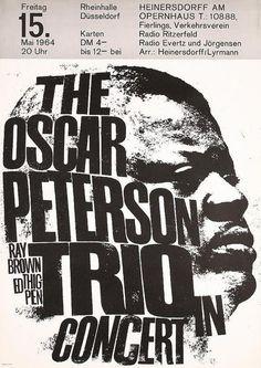 The Oscar Peterson Trio, Dusseldorf, 1964 - Miniature Poster Print