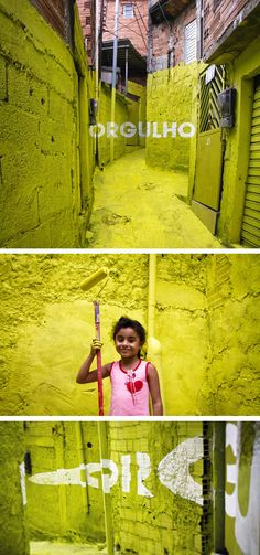 Artist collective Boa Mistura paints Brazilian suburbs. Pride.