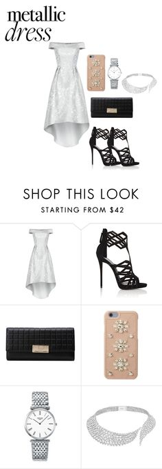 """""""silver"""" by fashionplanet01 ❤ liked on Polyvore featuring Chi Chi, Giuseppe Zanotti, MICHAEL Michael Kors, Longines and Messika"""