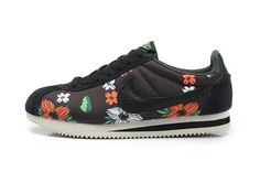 Inexpensive Nike Classic Cortez Nylon Womens Flower Black