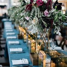 Deep florals and rich jewel tones - great idea for anyone planning an autumn wedding  #Repost @individuallyplanned  . . . . . .  #weddingdetails #tabledecor #weddinginspirations #colorlove #weddingtables #newlyengaged  #modernbride  #weddingplanner #weddinginspiration #engaged #weddingideas  #weddingstyle  #bridal  #bridalinspiration #bride #bridetobe  #instabride  #weddingplanning #love #individuallyplanned  #autumnwedding #fallwedding #2018wedding