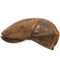 49945402971e0 ililily New Men¡¯s Flat Cap Vintage Cabbie Hat Gatsby Ivy Caps Irish  Hunting Hats Newsboy with Stretch fit - 001-1