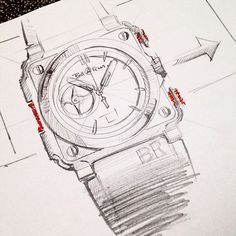 On request from @bellrosswiki... Quick and dirty sketch of BR-X1. I love the design of this watch. So technical and elaborate. This is what a real mans watch should look like   #bell&ross #br #bellandross #watches #watchporn #time #timegeek #horology #sketch #sketching #idsketching  #id #design #industrialdesign #watchdesign #sketchbook #wristporn #wristie #instawatch #watchoftheday #timepiece #style #mensstyle #fashiondesign #accessories #watchoftheday #watchesofinstagram #dailywatch