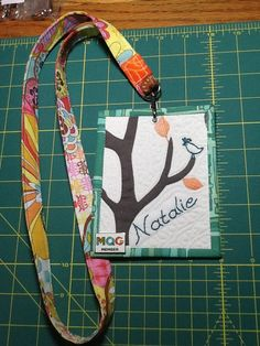 Custom fabric nametag made by jeli quilts | Home - I Wanna Make ... : quilting name tags - Adamdwight.com