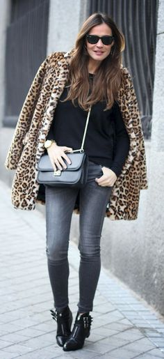 A leopard coat is really a classic. But just the coat! Do not wear with any other animal print!