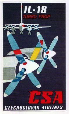 Czechoslovak Airlines (CSA) ~ IL-18 Turbo Prop