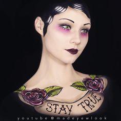 Tattoo girl my madeyewlook. Costume win!