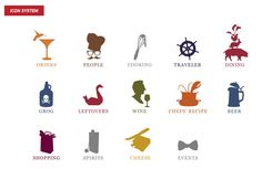 Love these icons created by Red Antler for Tasting Table.