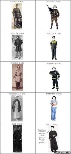 Cómo han cambiado los uniformes de algunas profesiones y ocupaciones, aunque algunas no tanto...        Gracias a http://www.cuantocabron.com/   Si quieres leer la noticia completa visita: http://www.estoy-aburrido.com/como-han-cambiado-los-uniformes-de-algunas-profesiones-y-ocupaciones-aunque-algunas-no-tanto/